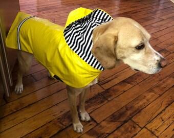 New Hooded Dog Rain Jacket, Dog Raincoat, Dog Rain Coat, Dog Jacket, Dog Coat, Dog Jackets