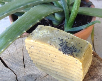 Hemp and Poppy, bar soap
