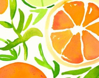 Orange Slices Print