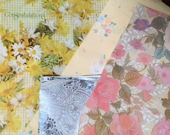 Vintage Gift Wrap Paper Set of 14 Different Patterns