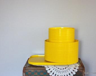 Vintage Heller Stackable Dinnerware, Yellow - 26 Piece Set
