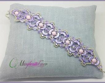 Linda bracelet tutorial. pattern with arcos, minos and swarovski