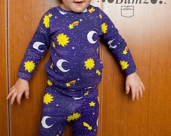 BA Pj's Pants and Tee Pajama Set Sizes Preemie through 14