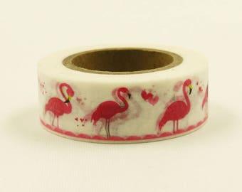 Pink Flamingo - Japanese Washi Masking Tape - 11 yard