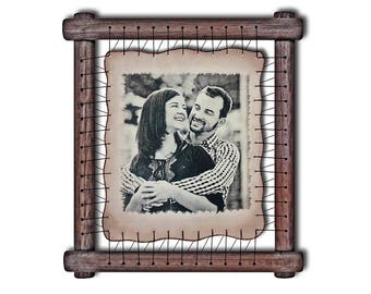 Ninth Anniversary Gift Ninth Wedding 9th Wedding Gift 9 Anniversary Framed Gift From Husband Gift From Wife Leather Gift For Him