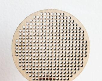 SET OF 5 - Cross stitch pendant blank - Large circle blanks Wood Needlecraft Pendant, Necklace or Earrings KA6 - wooden cross stitch blank