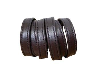 Leather Wrapping Bracelet, Minimalist bracelet, Brown leather wrap cuff, Soft leather cuffs, Leather stacking bracelets, Dark brown cuffs