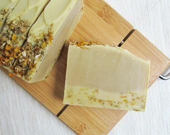 Chamomile & Calendula Soap - All Natural Soap, Cold Process Soap, Palm Free, Handmade Soap, Essential Oil Soap, Honey Soap, Clay Soap