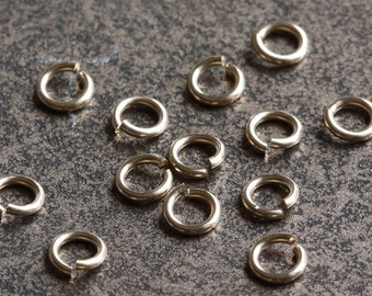 14k Gold Filled Jump Rings 4mm Open 20 gauge - Select Pack Size