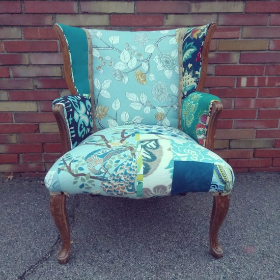 Bohemian Style Patchwork Accent Chair