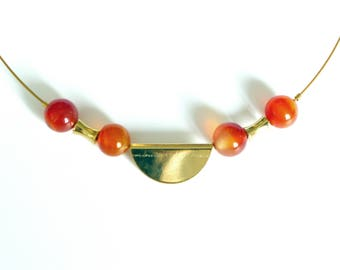 Necklace with Carnelian
