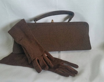 Purse and matching gloves