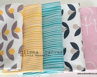 Sale fabric! GLIMMA CANVAS home decor fabric by Lotta Jansdotter, modern scandinavian fabric by the half yard - choose a 1/2 yard