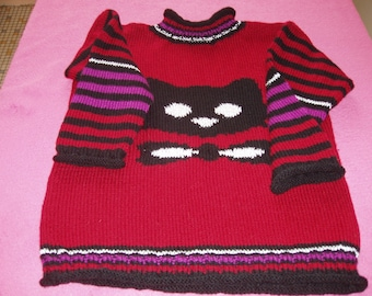 the kitten clear tunic sweater size 8