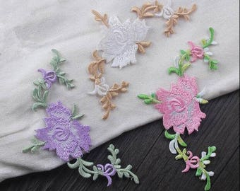 Flower patch, Rose patch, Rose applique, Embroidered flower applique for Backpacks,Pants,Sweaters,Pillows,Denim Jackets,Hats,Dress Supplies