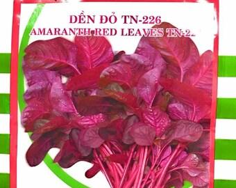 Amaranth red leaves