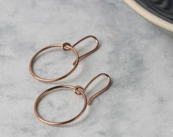 Circle Earrings - Rose Gold Fill | Rose gold earrings | Simple rose gold earrings | Simple earrings | Geometric jewellery | mother's day