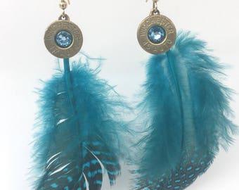 Feather Earrings bullet jewelry