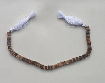 "3 strands of BIGGS JASPER square beads 5-6mm 8"""