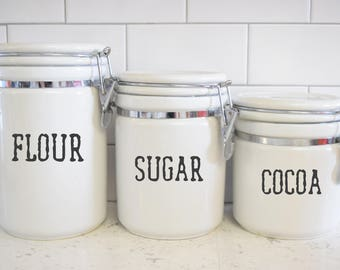 Pantry Vinyl Decal--Canister Label--Pantry Label--Vinyl Sticker--Pantry Sticker