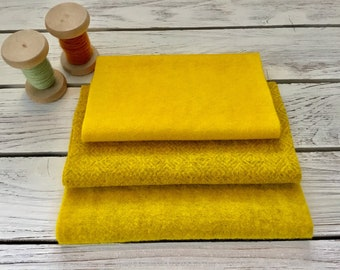 Rustic Sunflowers, Hand Dyed, Felted Wool, Rug Hooking, Wool Applique, Penny Rugs, Textile Arts