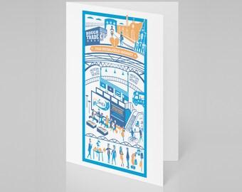 Old Spitalfields Market, London card