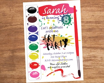Painting Paint Art Craft Party Invitation