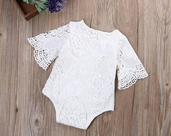 Lace bell sleeve. Baby boutique top.