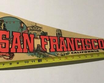 Vintage San Francisco Souvenir Felt Pennant