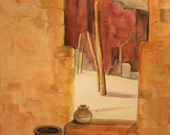 Mesa Verde  - Original watercolor - One of a kind