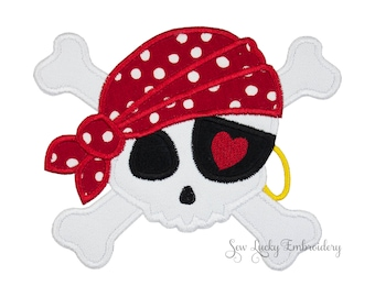 Pirate Skull Patch - Skull Patch - Pirate Patch - Skull Iron on - Pirate Applique - Pirate Iron on - Pirate Patch - Iron On Patch