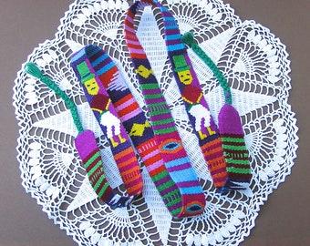Vintage Woven Tie Belt . Ethnic Sash . Folk . Boho