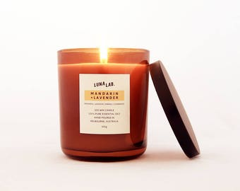 Mandarin & Lavender Soy Candle | 100% Pure Essential Oils | 150g, 300g, 450g