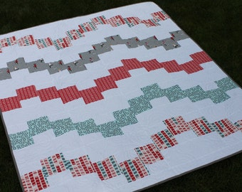 Modern Baby Quilt made with Adorable Sherbet Pips fabrics