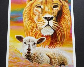 Lion and Lamb Print