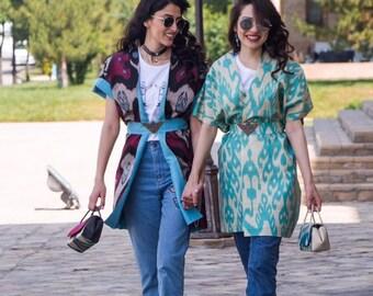 Ikat purses from silk. Hand made in Uzbekistan.