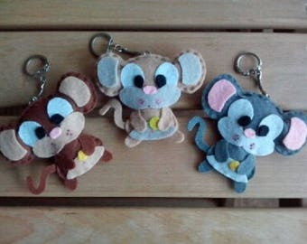 Keychain mouse and his Swiss cheese