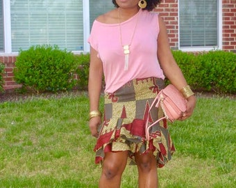 Mini ruffle skirt