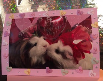 Sweet hearts guinea pig card