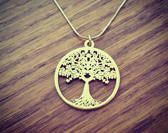 Tree of Life Necklace Family Tree Necklace Custom Necklace Gold Tree Necklace Customized Jewelry Mother Day Gift Sale! 18k Gold Necklace