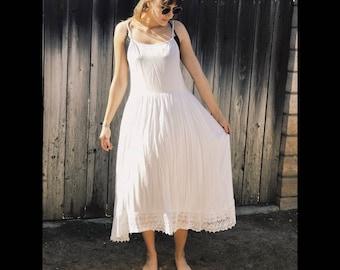 White Free People Maxi Dress