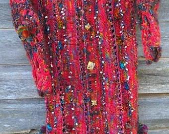 Mixed media Coat Pattern Great Adirondack Yarn