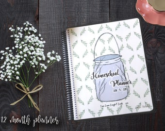 12 Month - Charlotte Mason Inspired Homeschool Planner - 2018 to 2019