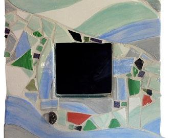 Aquamarine Mosaic Mirror