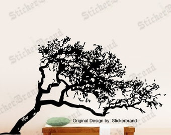 Vinyl Wall Decal Sticker Leaning Tree 385
