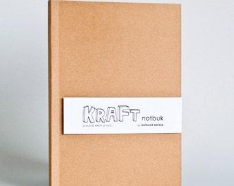 Kraft Paper Notebook in A5 size