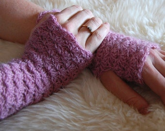 Crochet fingerless gloves pattern PDF, wrist warmer crochet pattern, crochet fingerless mittens
