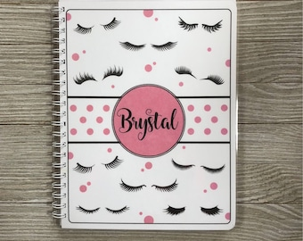 Lash Expert Yearly Appointment Book with Income Tracking - Personalized