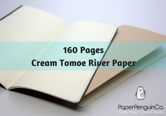 Midori Insert 160 Pages Cream Tomoe River Paper Travelers Notebook Black Brown Regular A5 Wide B6 Personal A6 Pocket FN Passport Mini Micro