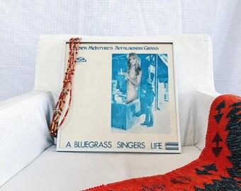 Vinyl and Magazine Collage Art // Framed // A Blue Grass SInger's Life